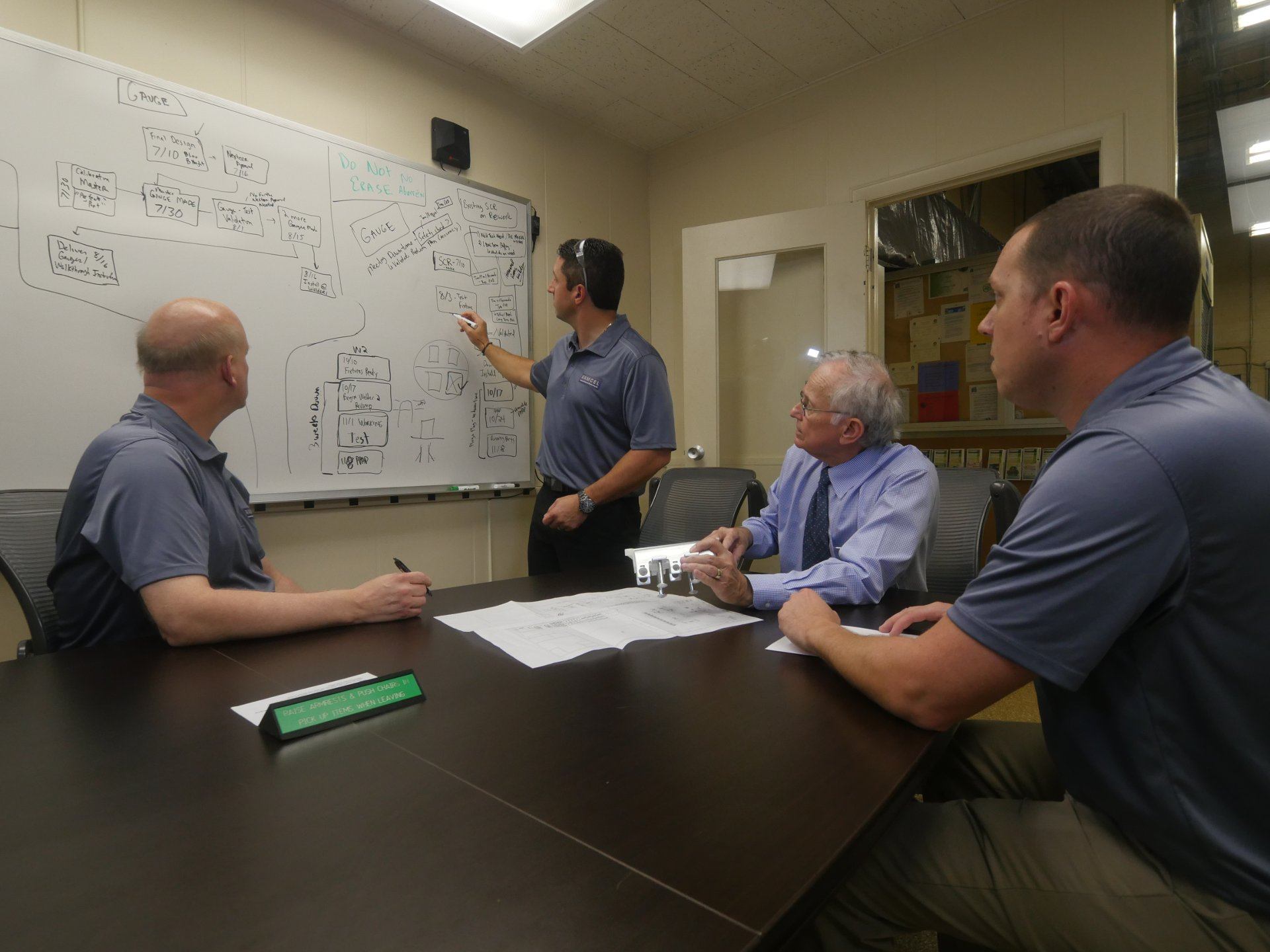 Photo of Ramcel engineering team working collaboratively